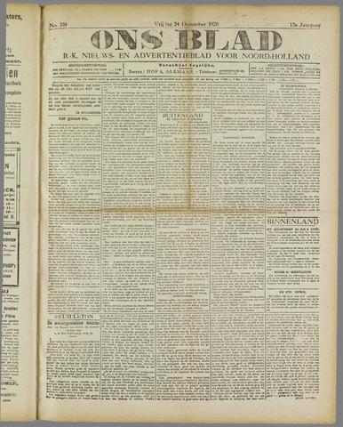 Ons Blad : katholiek nieuwsblad voor N-H 1920-12-24