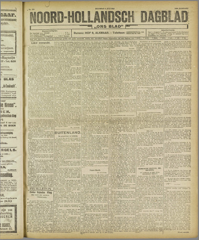Ons Blad : katholiek nieuwsblad voor N-H 1921-07-04