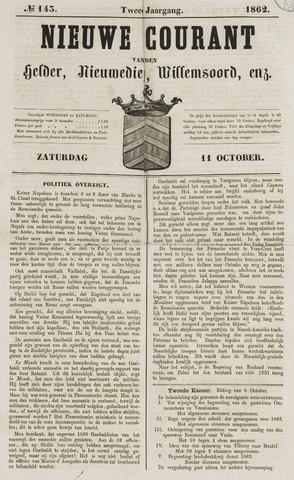 Nieuwe Courant van Den Helder 1862-10-11