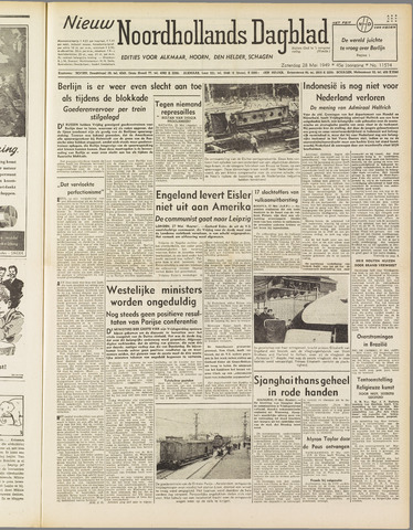 Nieuw Noordhollandsch Dagblad : voor Alkmaar en omgeving 1949-05-28