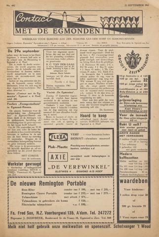 Contact met de Egmonden 1961-09-21