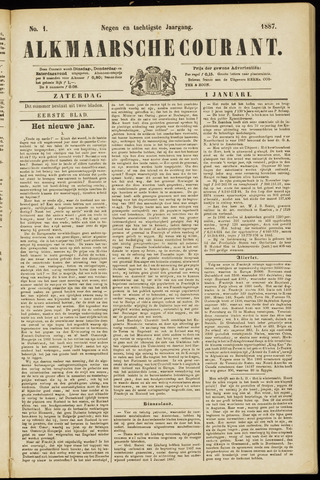 Alkmaarsche Courant 1887-01-01