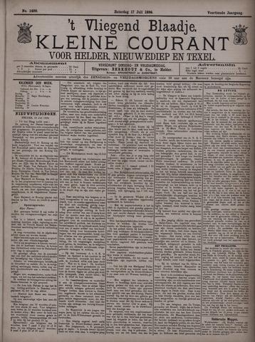 Vliegend blaadje : nieuws- en advertentiebode voor Den Helder 1886-07-17
