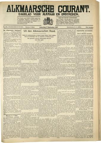 Alkmaarsche Courant 1937-09-11
