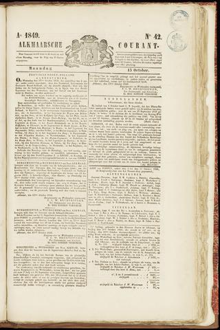 Alkmaarsche Courant 1849-10-15