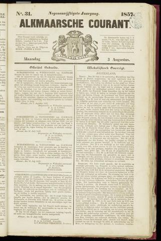 Alkmaarsche Courant 1857-08-03