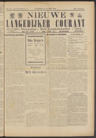 Nieuwe Langedijker Courant 1933-05-06