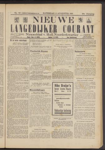 Nieuwe Langedijker Courant 1931-08-08