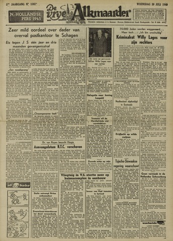De Vrije Alkmaarder 1949-07-20