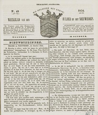 Weekblad van Den Helder en het Nieuwediep 1854-10-23