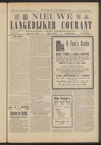 Nieuwe Langedijker Courant 1929-12-07