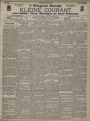 Vliegend blaadje : nieuws- en advertentiebode voor Den Helder 1907-04-27