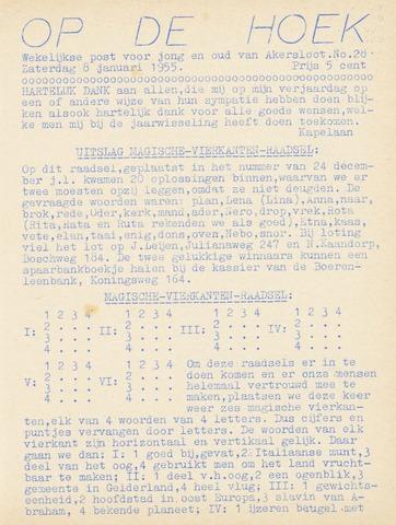 Op De Hoek, weekblad voor Akersloot 1955-01-08