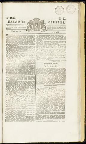 Alkmaarsche Courant 1842-07-04