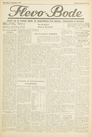 Flevo-bode: nieuwsblad voor Wieringen-Wieringermeer 1947-09-17