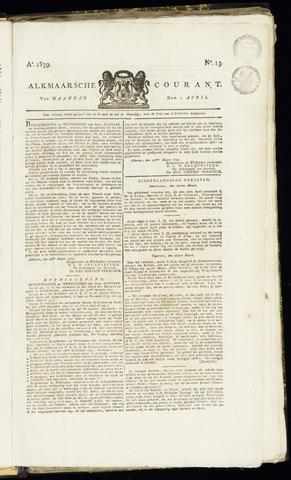 Alkmaarsche Courant 1839-04-01