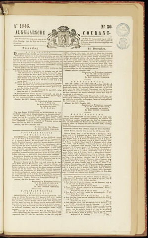Alkmaarsche Courant 1846-12-14