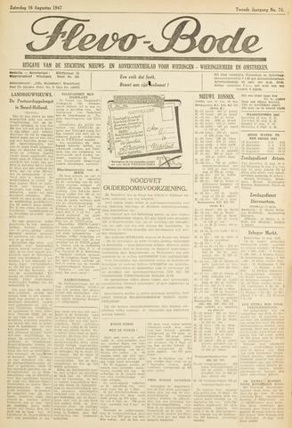 Flevo-bode: nieuwsblad voor Wieringen-Wieringermeer 1947-08-16