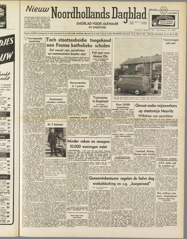 Nieuw Noordhollandsch Dagblad : voor Alkmaar en omgeving 1951-09-22