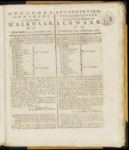 Alkmaarsche Courant 1812-09-23