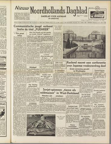 Nieuw Noordhollandsch Dagblad : voor Alkmaar en omgeving 1951-08-14