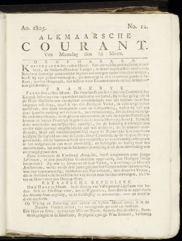 Alkmaarsche Courant 1805-03-25