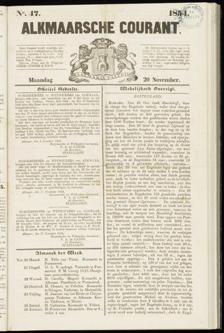 Alkmaarsche Courant 1854-11-20