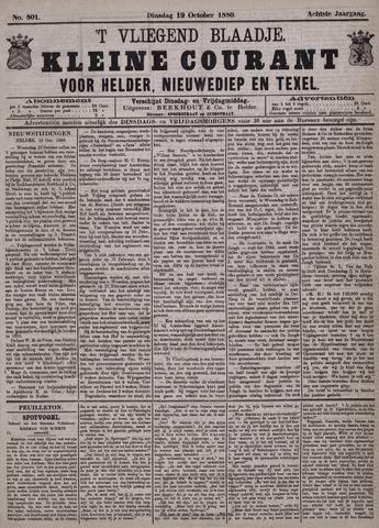 Vliegend blaadje : nieuws- en advertentiebode voor Den Helder 1880-10-19