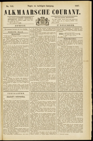 Alkmaarsche Courant 1887-11-27