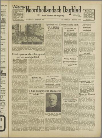 Nieuw Noordhollandsch Dagblad : voor Alkmaar en omgeving 1946-09-16