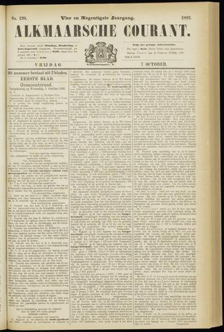 Alkmaarsche Courant 1892-10-07