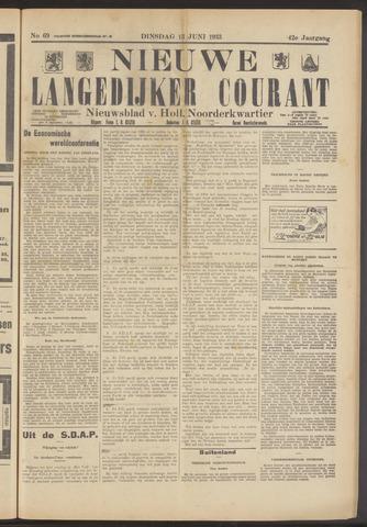 Nieuwe Langedijker Courant 1933-06-13