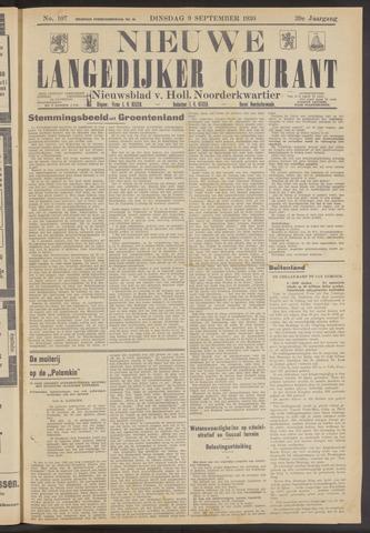 Nieuwe Langedijker Courant 1930-09-09
