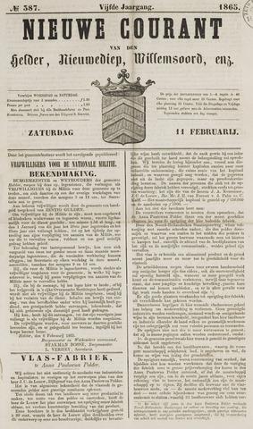 Nieuwe Courant van Den Helder 1865-02-11