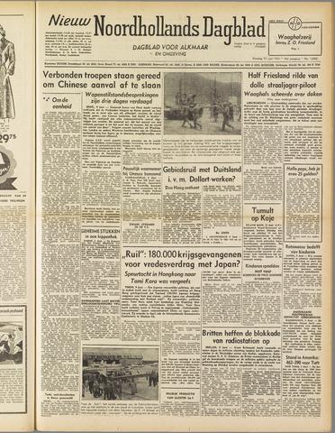 Nieuw Noordhollandsch Dagblad : voor Alkmaar en omgeving 1952-06-10