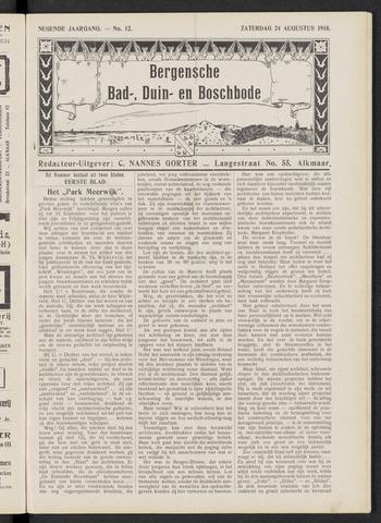 Bergensche bad-, duin- en boschbode 1918-08-24