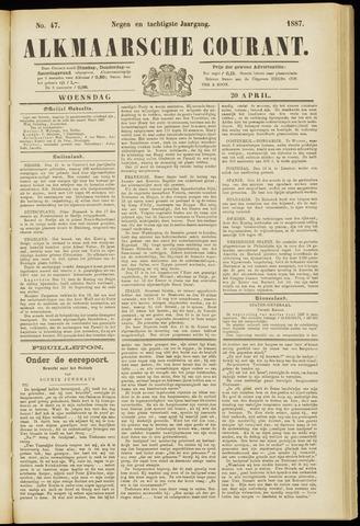 Alkmaarsche Courant 1887-04-20