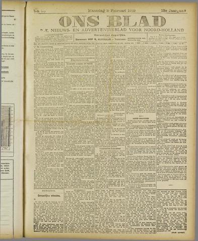Ons Blad : katholiek nieuwsblad voor N-H 1919-02-03