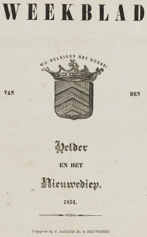 Weekblad van Den Helder en het Nieuwediep 1851-01-01