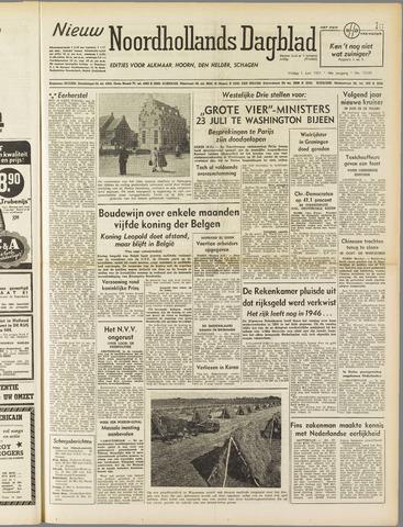 Nieuw Noordhollandsch Dagblad : voor Alkmaar en omgeving 1951-06-01