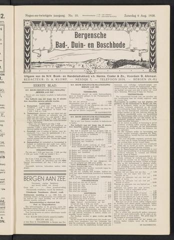 Bergensche bad-, duin- en boschbode 1938-08-06