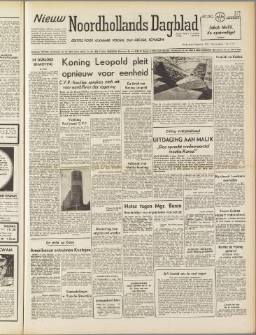 Nieuw Noordhollandsch Dagblad : voor Alkmaar en omgeving 1950-08-03
