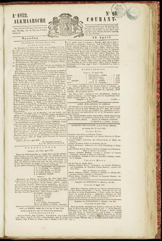 Alkmaarsche Courant 1852-04-19
