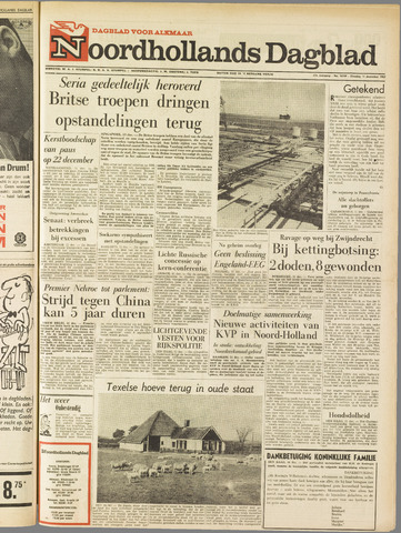 Noordhollands Dagblad : dagblad voor Alkmaar en omgeving 1962-12-11
