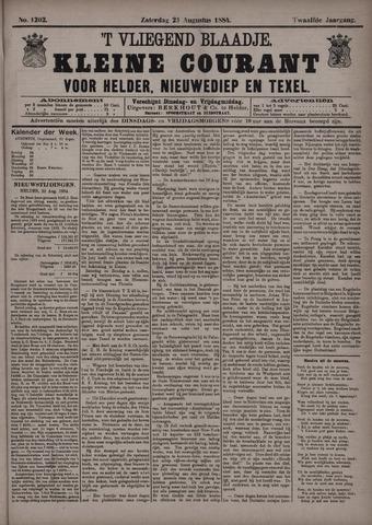 Vliegend blaadje : nieuws- en advertentiebode voor Den Helder 1884-08-23