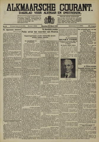 Alkmaarsche Courant 1937-03-22