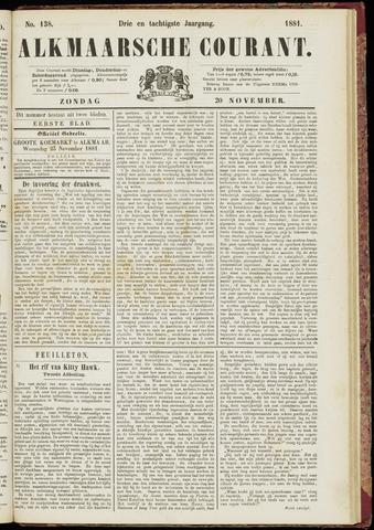 Alkmaarsche Courant 1881-11-20