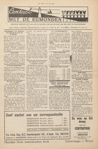 Contact met de Egmonden 1964-06-25
