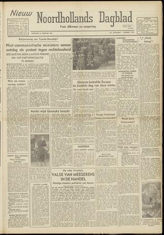 Nieuw Noordhollandsch Dagblad : voor Alkmaar en omgeving 1948-02-21