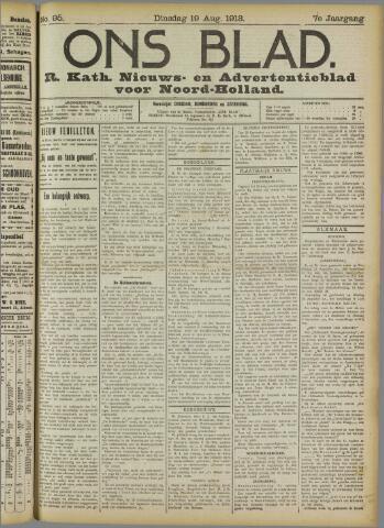 Ons Blad : katholiek nieuwsblad voor N-H 1913-08-19